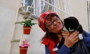 Έκτισε σκάλα στο παράθυρό της για να μην κρυώνουν τα αδέσποτα ζώα της γειτονιάς [vid]
