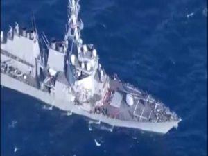 Αμερικανικό αντιτορπιλικό συγκρούστηκε με εμπορικό πλοίο νοτιοδυτικά της Γιοκοσούκα [vid]
