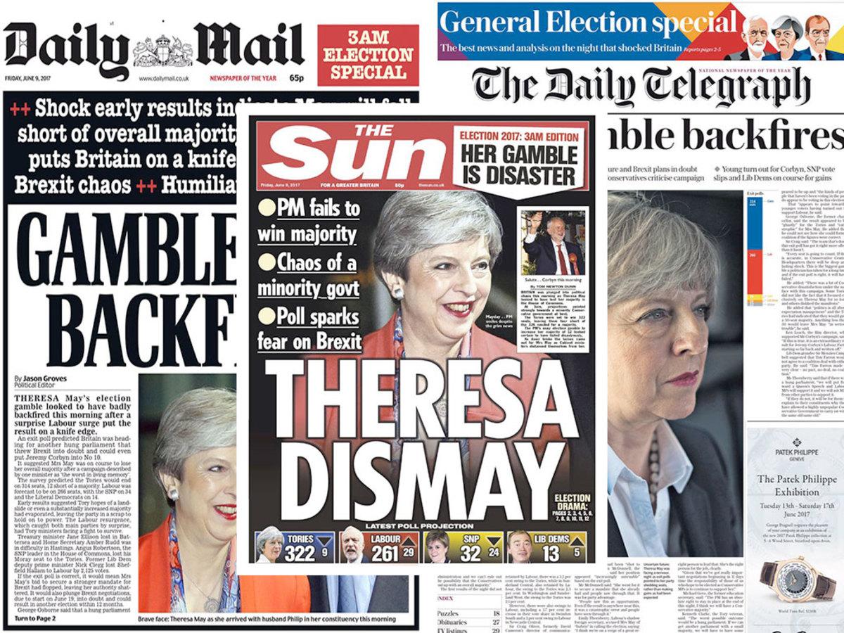 """Βρετανία: Τερέζα, έπαιξες κι έχασες! """"Φαρμάκι"""" ο βρετανικός Τύπος! [pics]"""