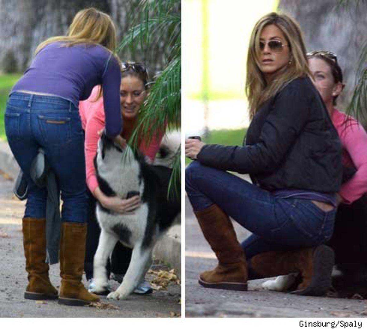 Στεναχωρημένη η Aniston για τον τετράποδο φίλο της