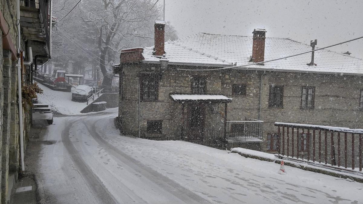 Το χιονισμένο Μέτσοβο - ΦΩΤΟ EUROKINISSI
