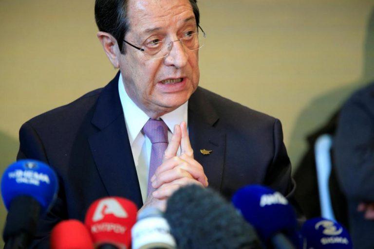 Κυπριακό: Απόλυτα ικανοποιημένος ο Αναστασιάδης