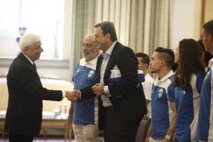 Ο Προκόπης Παυλόπουλος υποδέχθηκε τους Ολυμπιονίκες