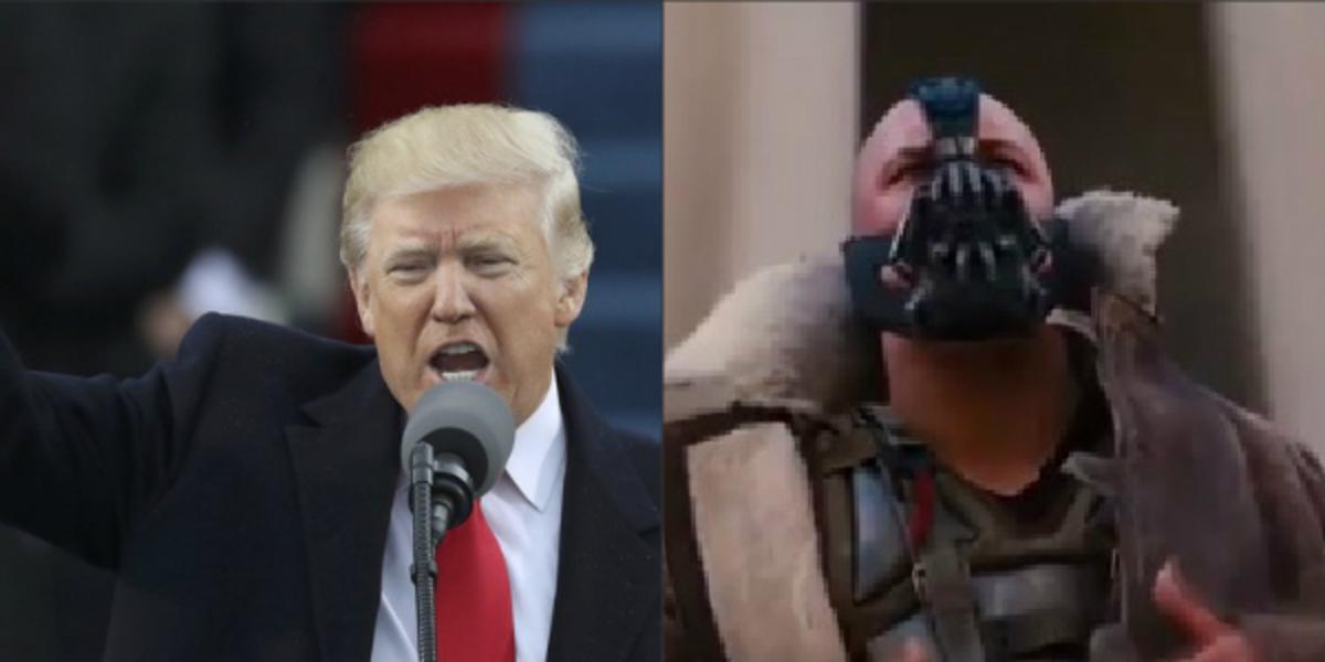 """Τραμπ όπως λέμε Batman – """"Έκλεψε"""" (;) ατάκα από την ταινία [vid]"""