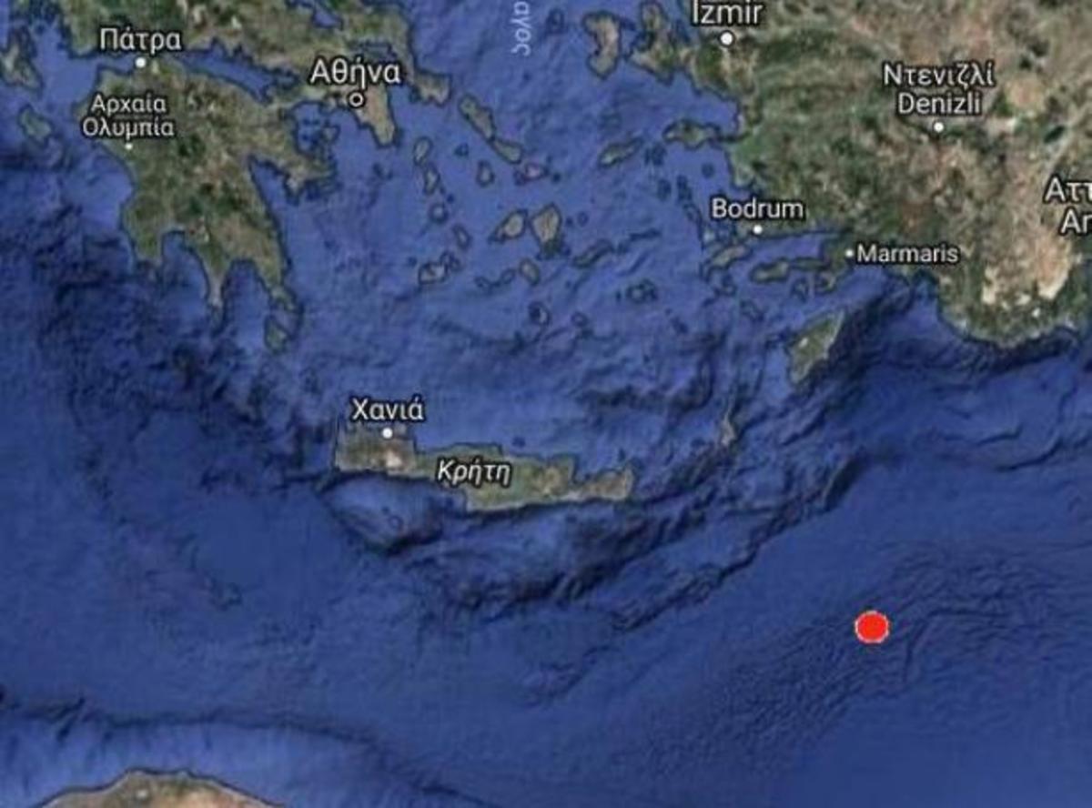 Ο χάρτης του σεισμού από το Γεωδυναμικό Ινστιτούτο