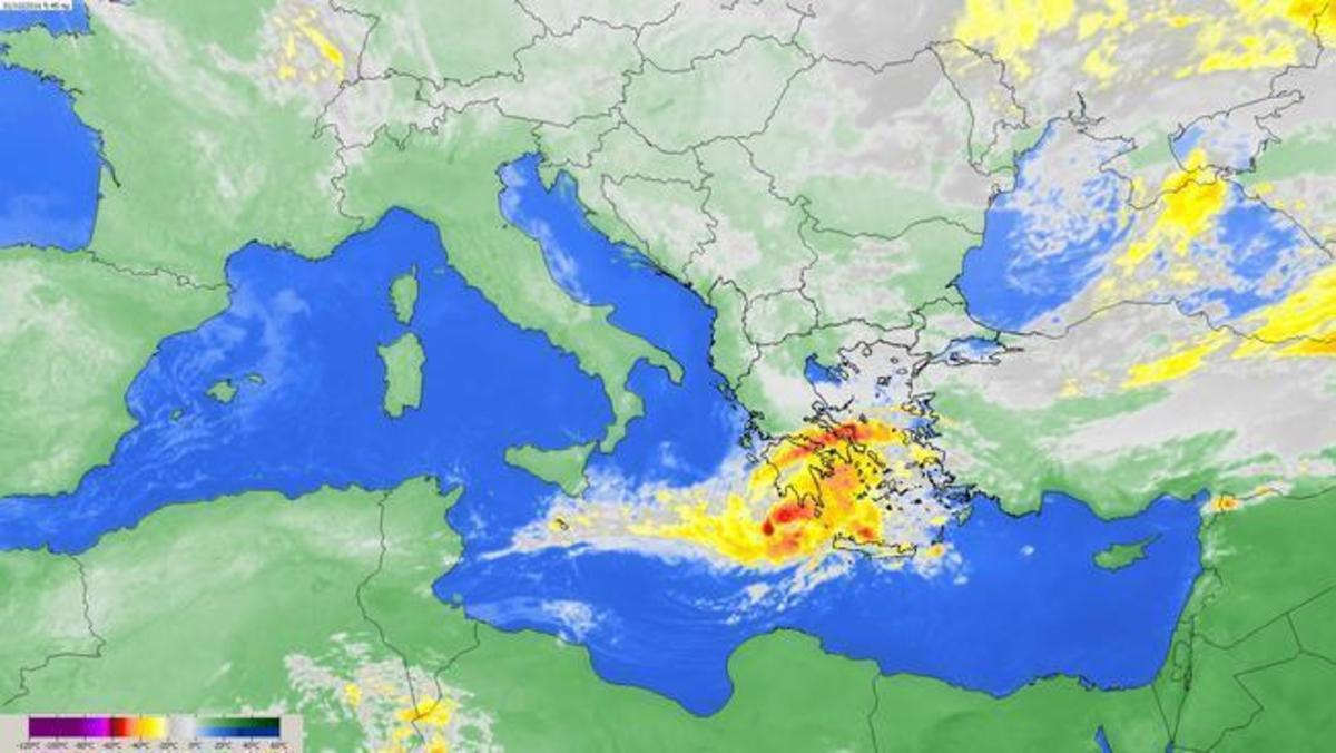 Καιρός: Κυκλώνας θα χτυπήσει την Κρήτη – Αναλυτικοί χάρτες