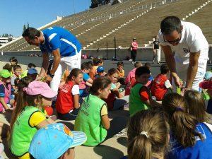 """Οι Ολυμπιονίκες Μάντης – Καγιαλής στο """"Kids' Athletics – Aγαπώ τον Αθλητισμό"""""""
