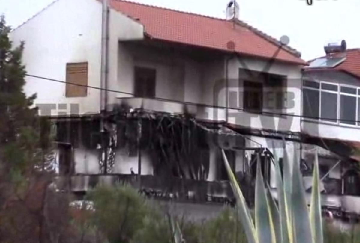 Τα πλάνα από το καμένο σπίτι του Μπίκα [vid]