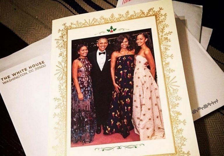 Η τελευταία χριστουγεννιάτικη κάρτα των Ομπάμα ως πρώτης οικογένειας των ΗΠΑ!