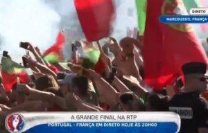 """Πορτογαλία – Γαλλία: """"Αποθέωση"""" για τους Ίβηρες πριν τον τελικό (VIDEO)"""