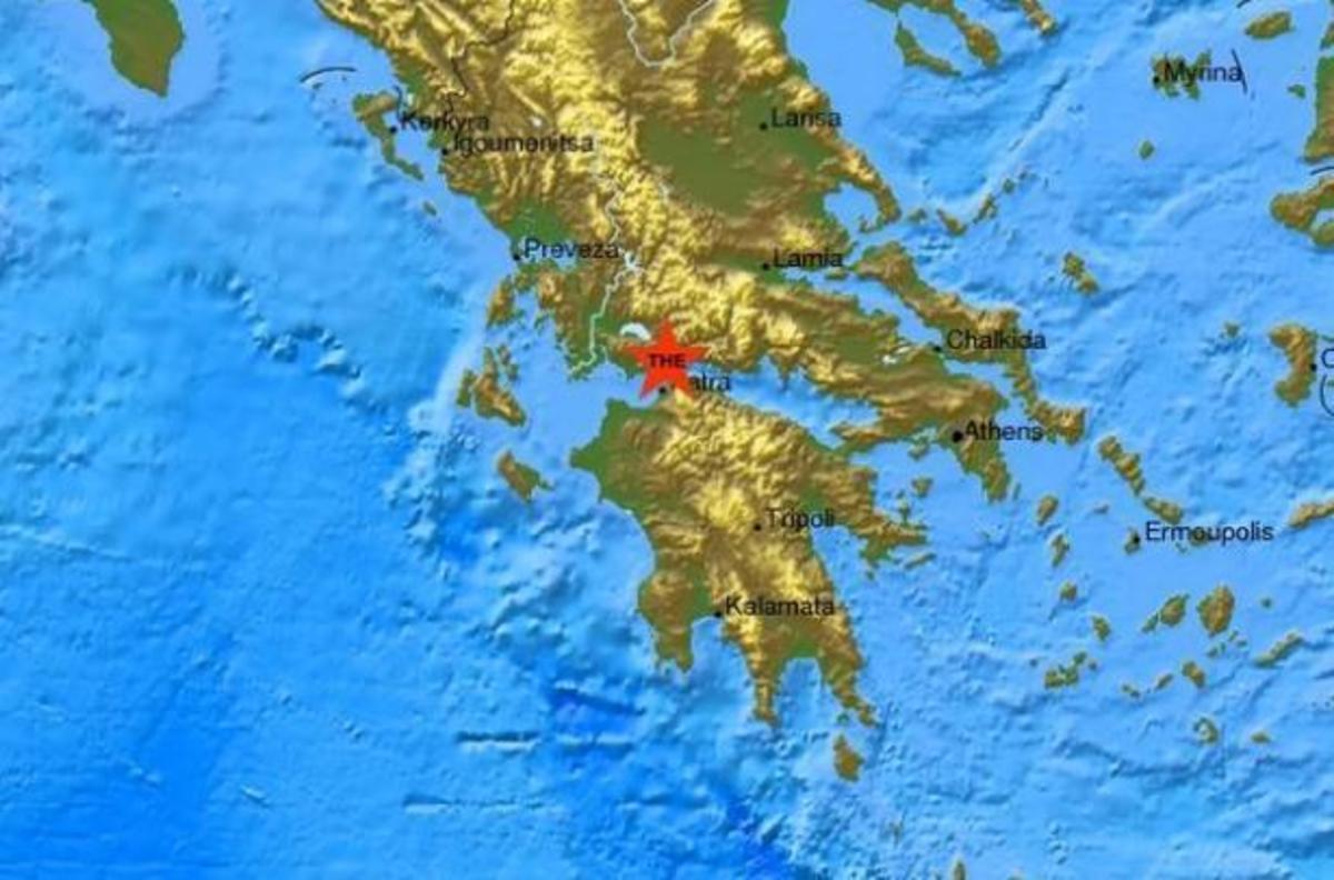 Ο χάρτης του πρώτου σεισμού από το Ευρωμεσογειακό Σεισμολογικό Κέντρο