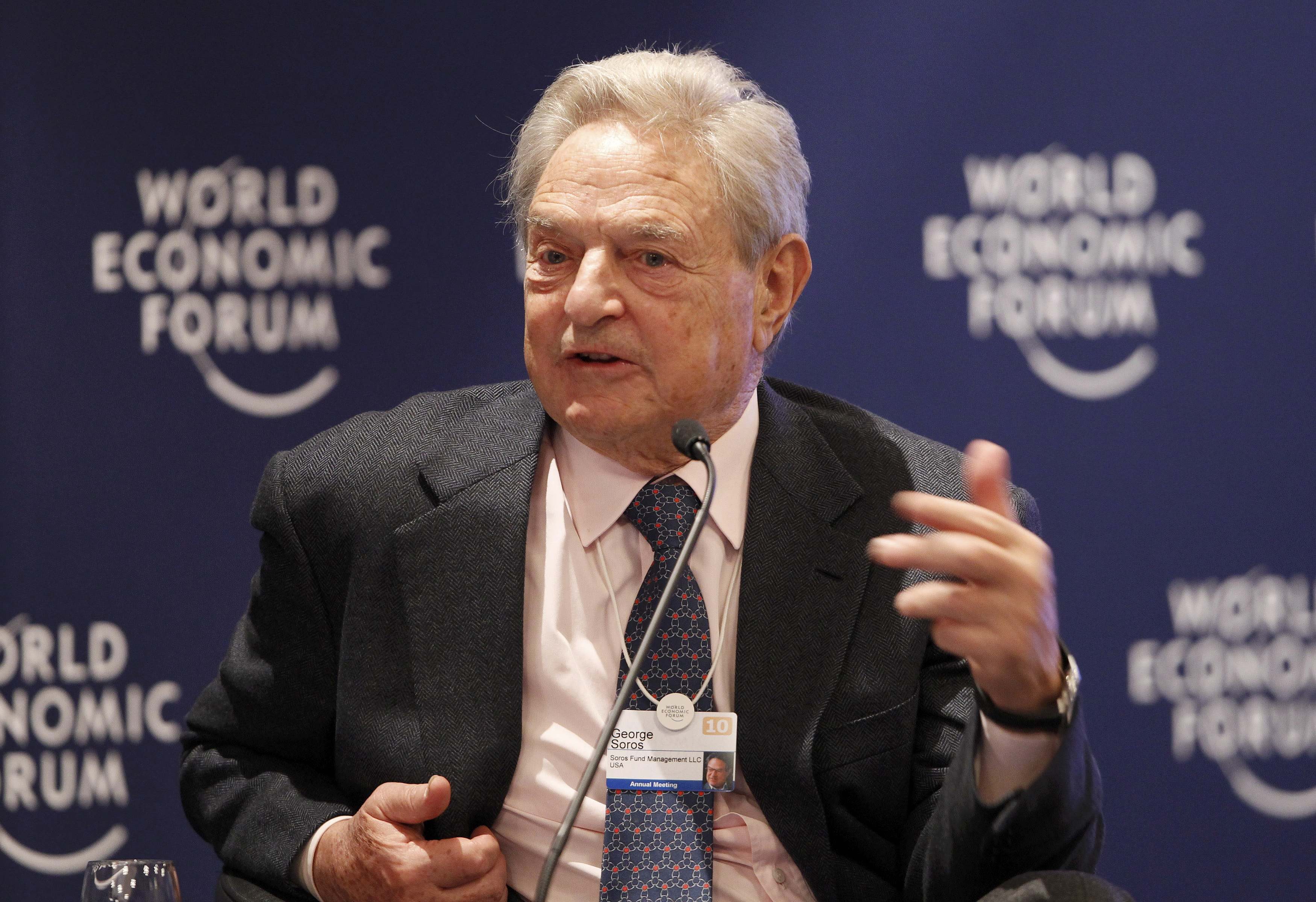 O δισεκατομμυριούχος επενδυτής Τζορτζ Σόρος. ΦΩΤΟ REUTERS