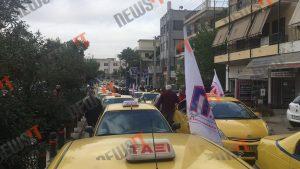 Μπλόκο στο υπουργείο Μεταφορών από τους ταξιτζήδες