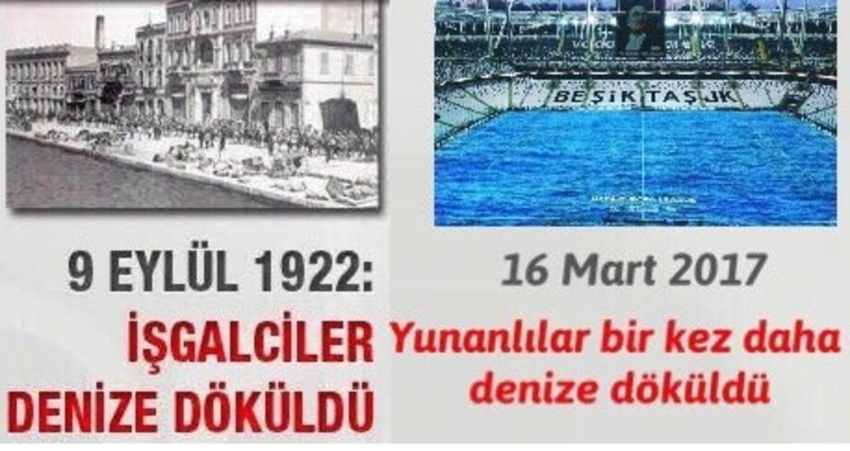 Μπεσίκτας – Ολυμπιακός: Εμετικό εθνικιστικό παραλήρημα Τούρκων με τη Σμύρνη [pics]