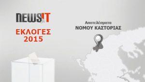 Αποτελέσματα Εκλογών 2015: Νομός Καστοριάς