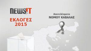 Αποτελέσματα Εκλογών 2015: Νομός Καβάλας