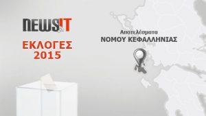 Αποτελέσματα Εκλογών 2015: Νομός Κεφαλληνίας