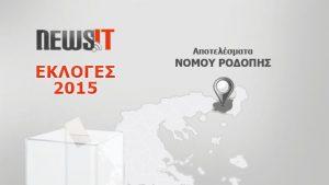 Αποτελέσματα Εκλογών 2015: Νομός Ροδόπης