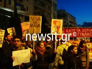 Διαδήλωση κατά του Τραμπ έξω από την Αμερικανική Πρεσβεία [pics]