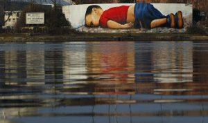 Το τεράστιο γκράφιτι 120 τετραγωνικών για τον μικρό Αιλάν – ΦΩΤΟ