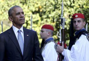 Ομπάμα: Καρέ – καρέ η υποδοχή του στο Προεδρικό Μέγαρο [pics]