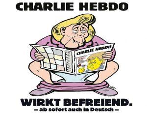 Μέρκελ: Διαβάζει Charlie Hebdo στην… τουαλέτα! [pics]