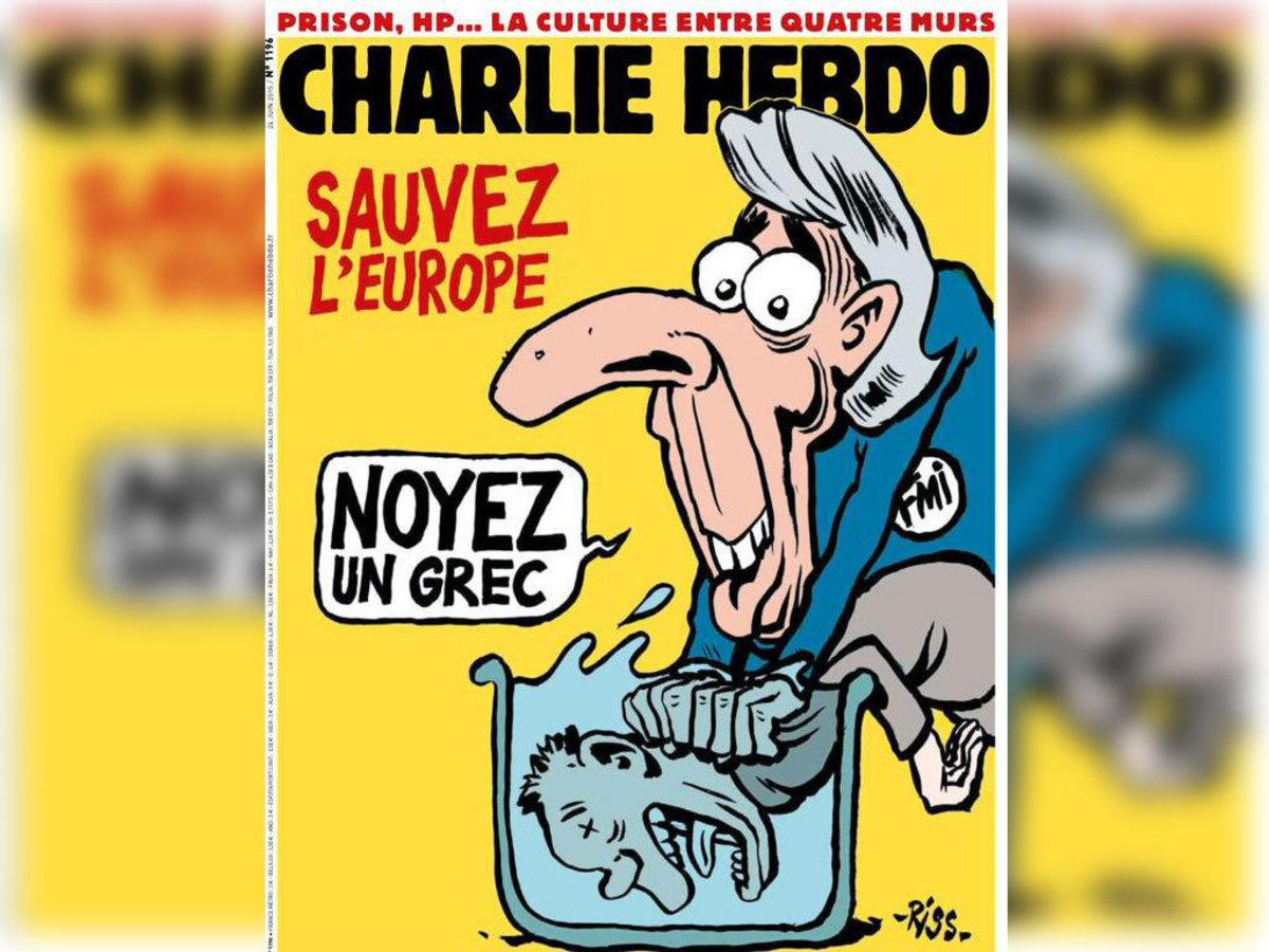 Charlie Hebdo – Το πρωτοσέλιδο για την Ελλάδα: Πνίξε κι εσύ έναν Έλληνα!