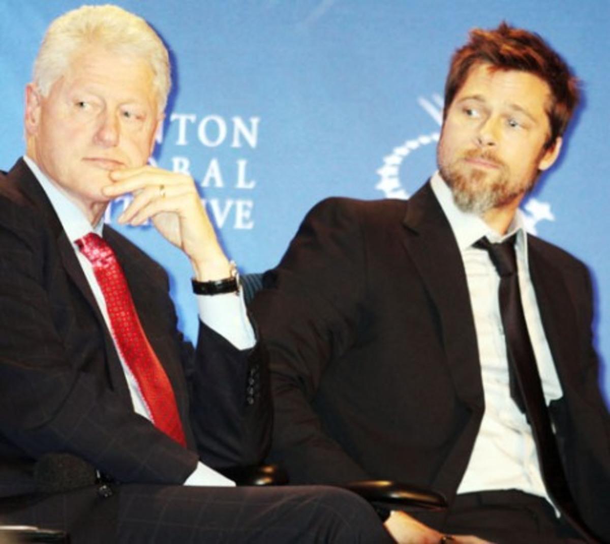 Πιτ και Κλίντον μαζί στη φιλανθρωπία