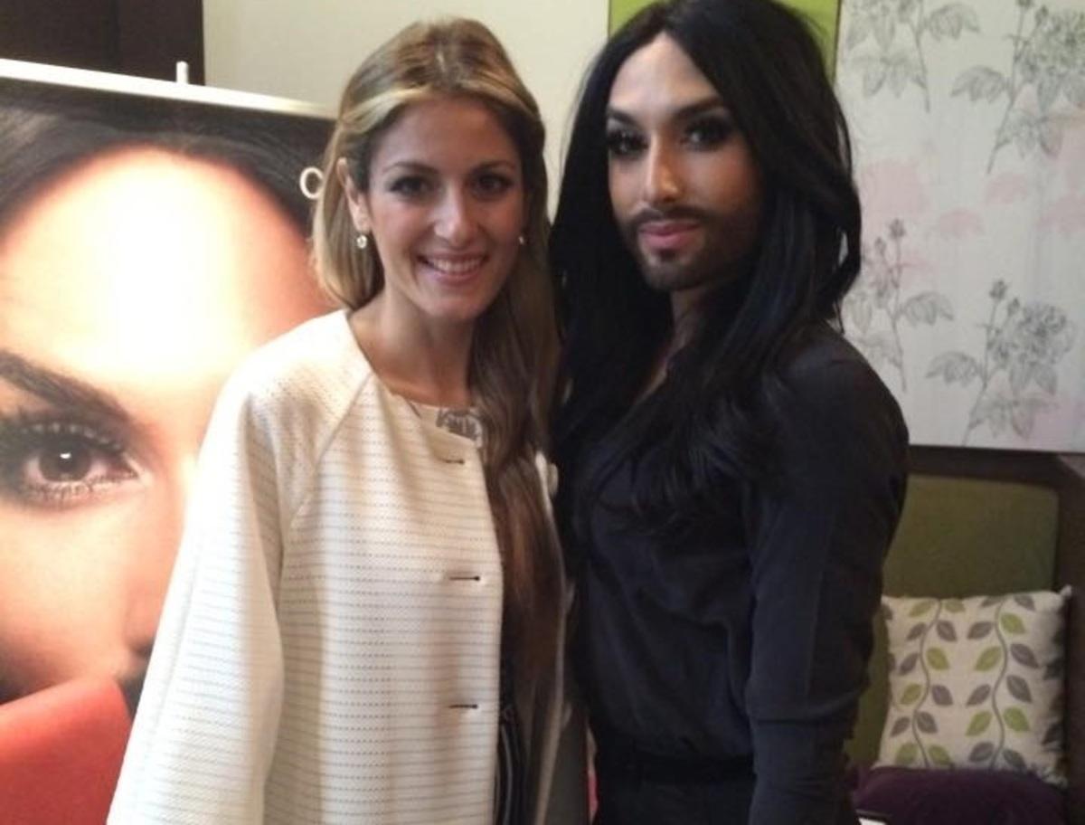 Η συνάντηση της Μαρίας Έλενας Κυριάκου με την Conchita