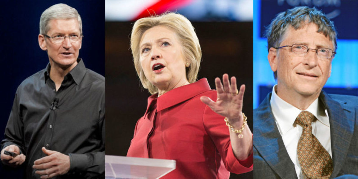 O Tim Cook και o Bill Gates ήταν υποψήφιοι Αντιπρόεδροι της Hillary Clinton!