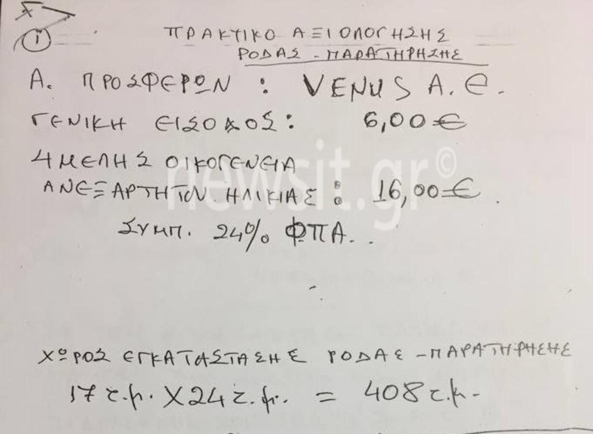 Δήμος Αθηναίων: Ένα… μπακαλόχαρτο, τα πρακτικά για τη ρόδα! Σάλος με το κόστος του πρωτοχρονιάτικου ρεβεγιόν!