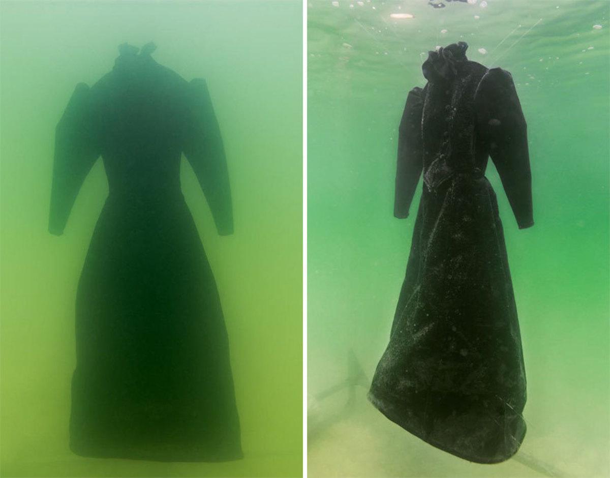 Άφησε δυο χρόνια ένα νυφικό στο βυθό της Νεκράς Θάλασσας, και… [pics]