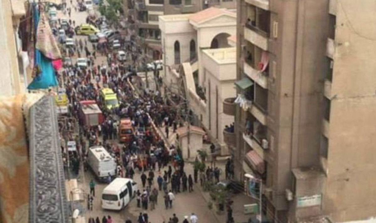 Video σοκ: Η στιγμή της έκρηξης σε Χριστιανική εκκλησία στην Αίγυπτο – Δεκάδες οι νεκροί