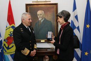Συνάντηση Ναυάρχου Αποστολάκη με την Πρέσβη του Ηνωμένου Βασιλείου