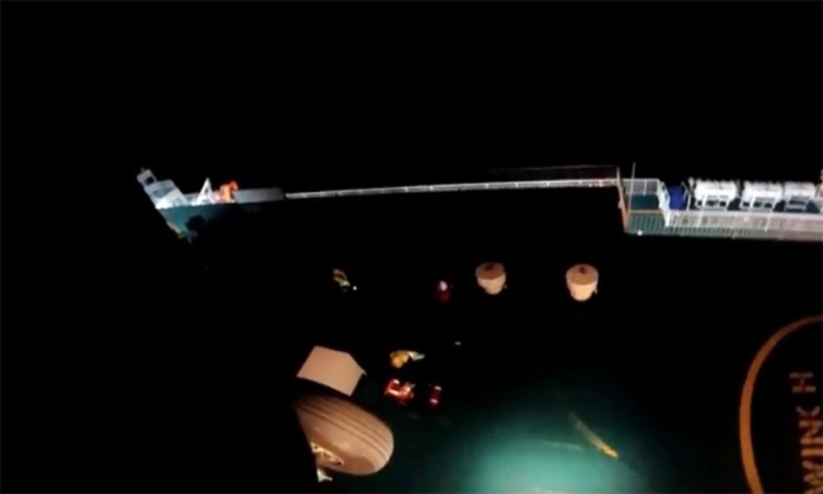 Καρέ – καρέ δραματική διάσωση από ελικόπτερο του Πολεμικού Ναυτικού [vid]