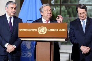 """Κυπριακό – Γκουτέρες: """"Θέλουμε βιώσιμη λύση, όχι μπαλώματα"""""""