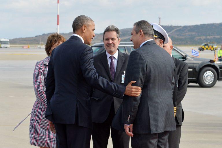 Καμμένος: Τι μου είπε ο Ομπάμα στο αεροδρόμιο