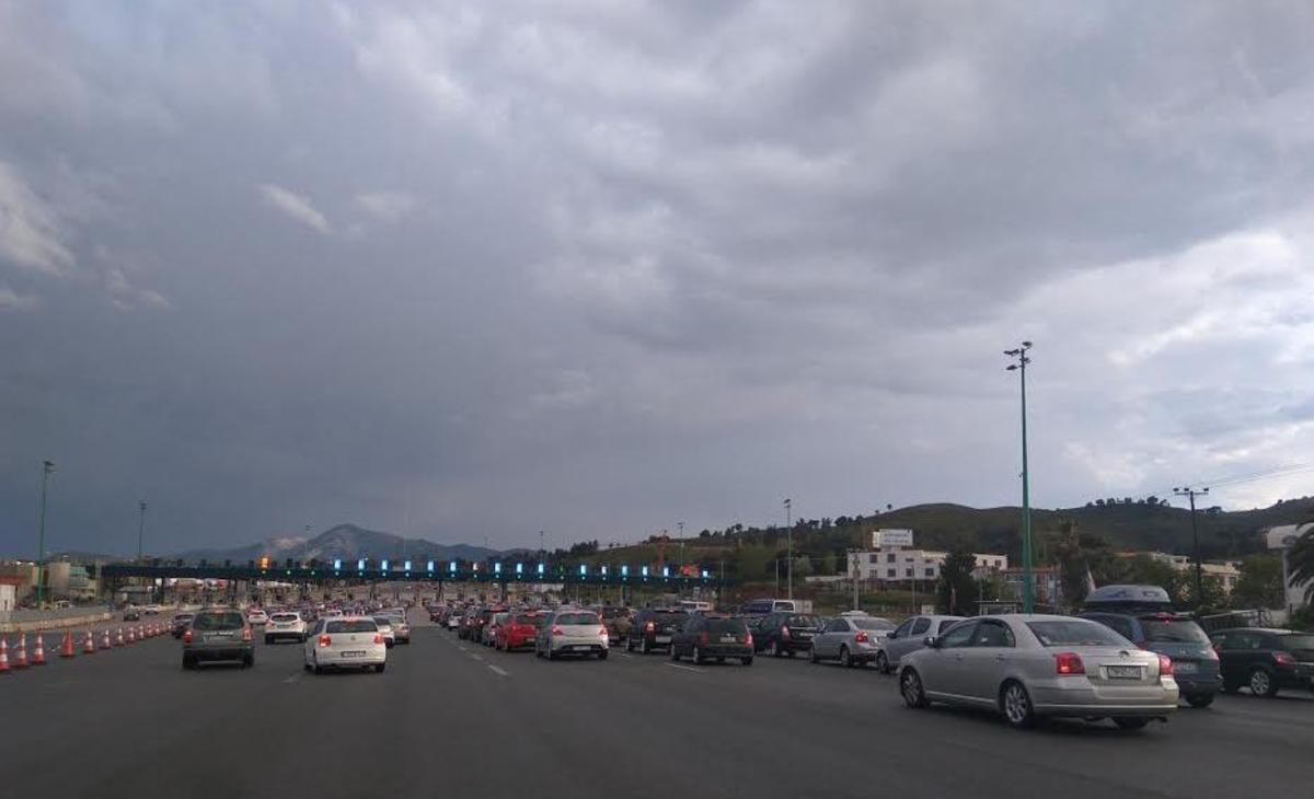 Διόδια Αφιδνων ώρα 18:45 - ΦΩΤΟ αναγνώστη newsIT.gr