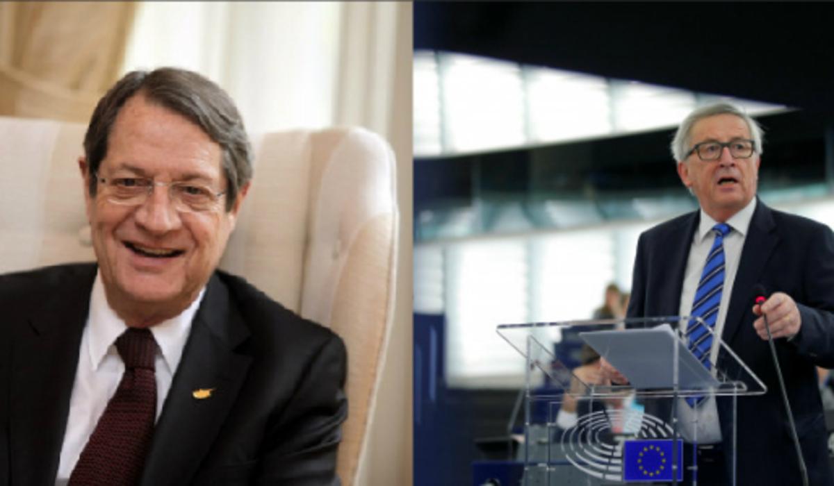 Κυπριακό: Επικοινωνία Αναστασίαδη – Γιούνκερ