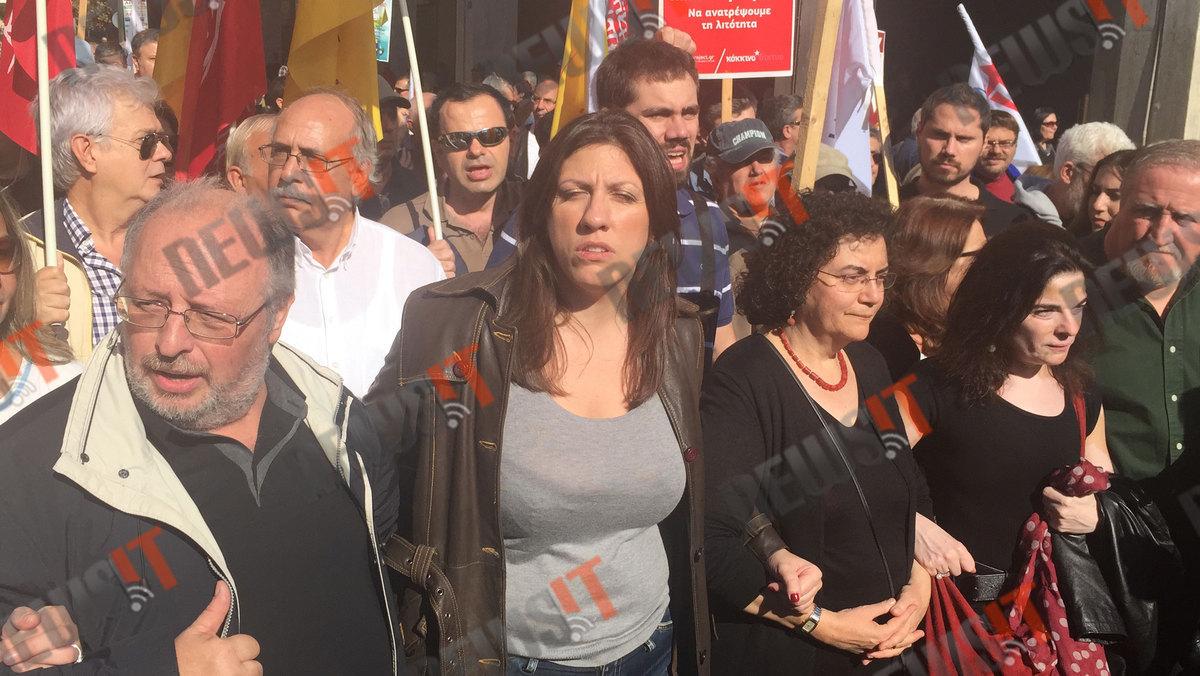 Αγκαζέ στην πορεία Λαφαζάνης, Ραχήλ και Κωνσταντοπούλου