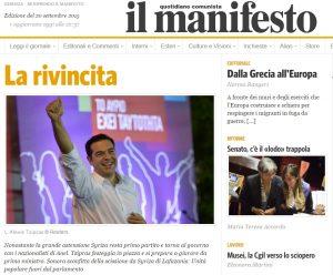 """Αποτελέσματα εκλογών 2015: """"Γλυκιά νίκη του Τσίπρα"""" – Ο ιταλικός Τύπος"""