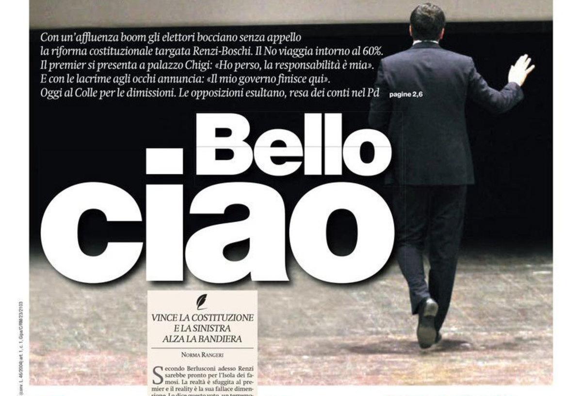 Ιταλία – Δημοψήφισμα: Πρωτοσέλιδα… αντίο και το λάθος του Ρέντσι [pics]