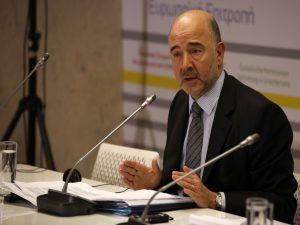 Μοσκοβισί: Κατάλληλες οι συνθήκες για να συζητηθεί η ελάφρυνση χρέους στο Eurogroup