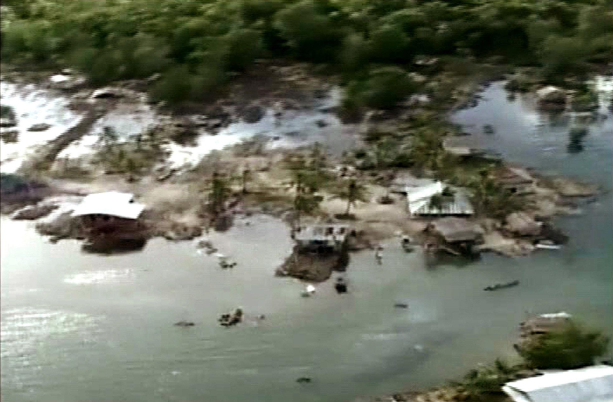 Εικόνες από τσουνάμι στην περιοχή το 2004 ΦΩΤΟ EUROKINISSI