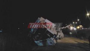 Τούμπαρε νταλίκα στην Πάτρα – Τραυματίστηκε ο οδηγός