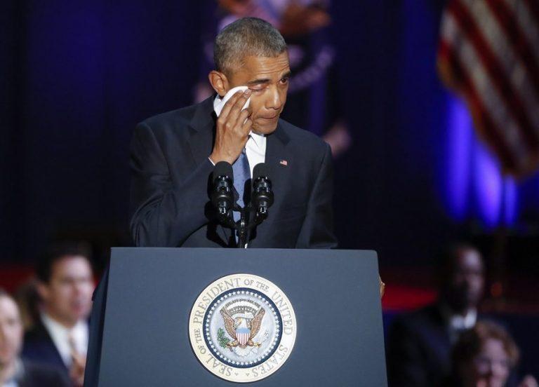 Αποχαιρετισμός Ομπάμα με δάκρυα και αποθέωση [pics, vids]
