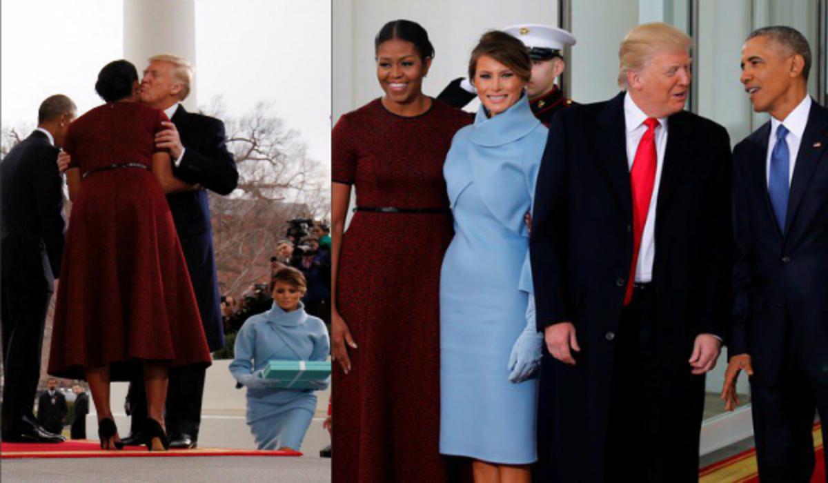 Τραμπ: Ο μόνος Πρόεδρος που δεν περίμενε την σύζυγο του [vids]