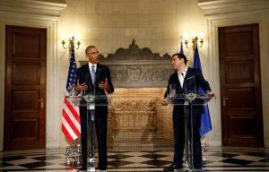 """""""Ηχηρό"""" μήνυμα Ομπάμα ενώπιον Τσίπρα: """"Απαραίτητη η ελάφρυνση χρέους"""" [vids, pics]"""