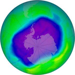 Δεύτερη μικρότερη η τρύπα του όζοντος πάνω από την Ανταρκτική