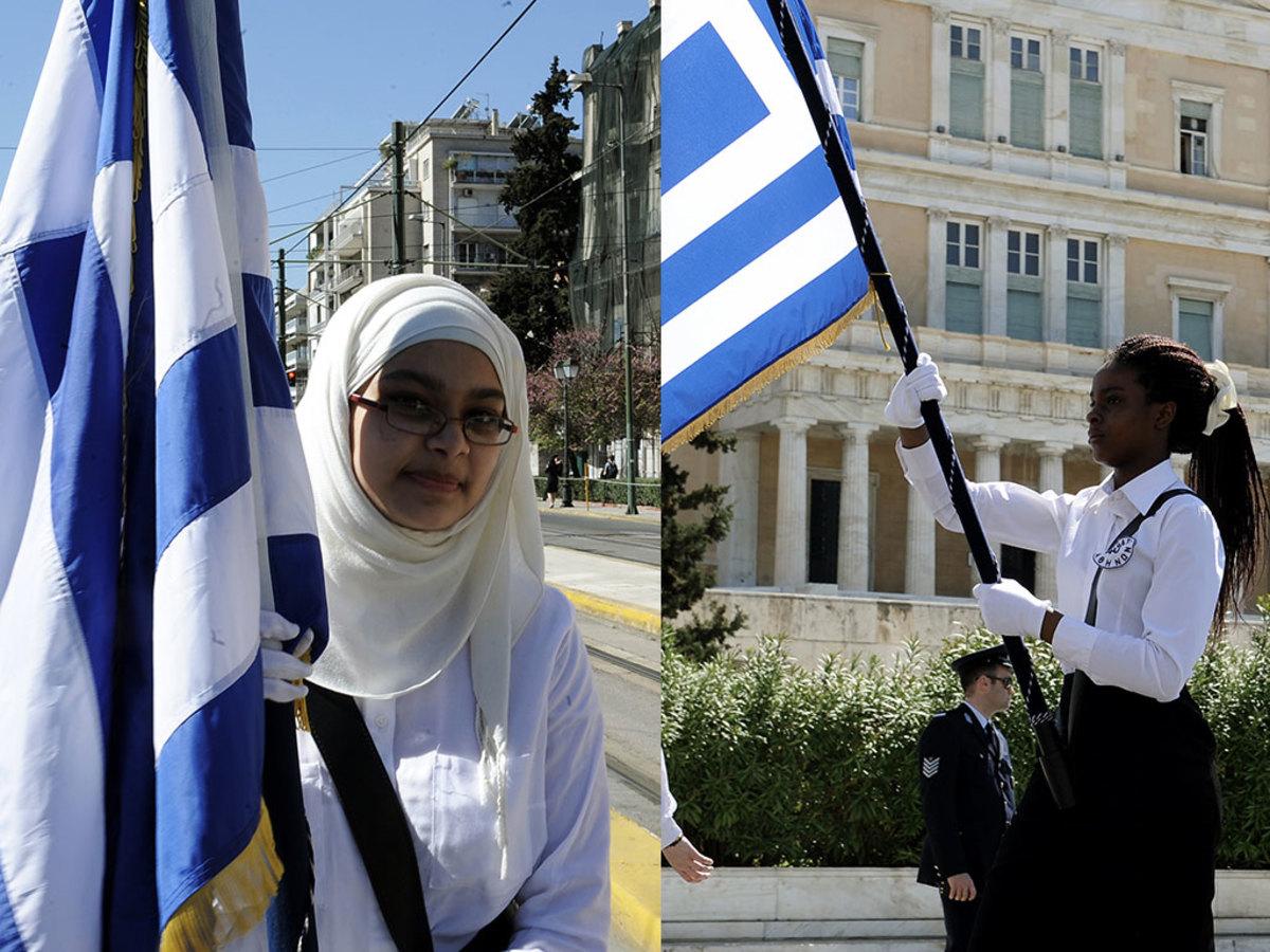 Παρέλαση 25ης Μαρτίου: Οι δυο σημαιοφόροι που ξεχώρισαν [pics]
